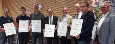 Vertreter der JOMM-Vereine bei der Preisverleihung