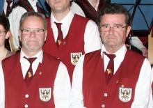 Josef Engels (links) und Alfred Creutzner bei der Ehrung an Ostern 2017