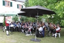 Winzerkapelle bei der Musik im Garten 2018 (Foto: KJ Röhl)