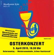 Plakat zum Osterkonzert am 5. April 2015 um 19.30 Uhr in der Weinbrunnenhalle Kröv
