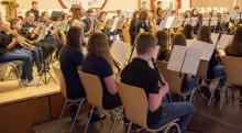 JOMM und Jugendorchester Lüxem beim gemeinsamen Auftritt am 11.3.2018