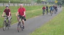 Vorsitzender Bernd Fröhlich und Schriftführer Karl-Josef Röhl führen die Radfahrgruppe an